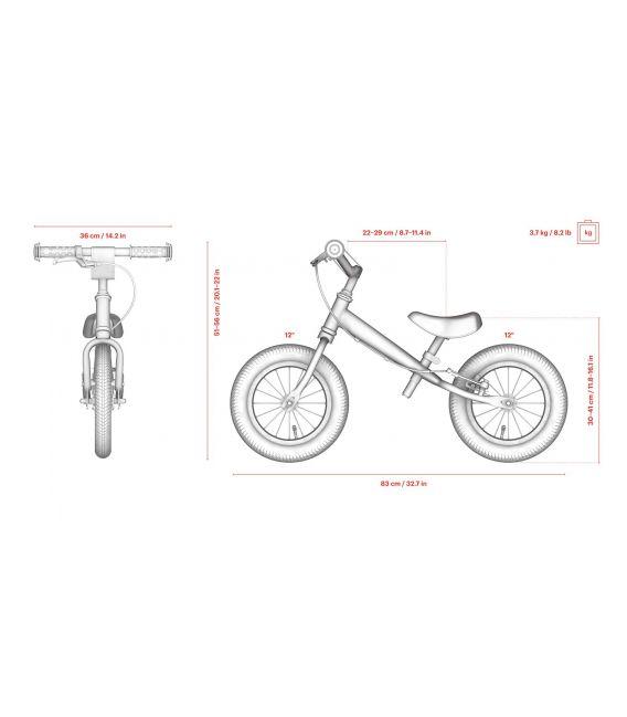 Draisienne Ambulance, draisienne enfant  garçon fille 12 pouces, vélo sans pédale