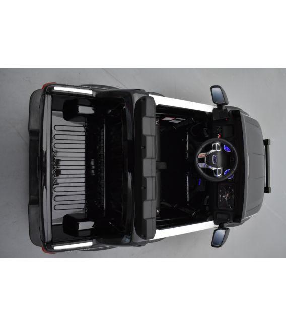 Ford Ranger Raptor Police noir 12 Volts électrique enfant, voiture électrique enfant 12V 10Ah, 2 moteurs