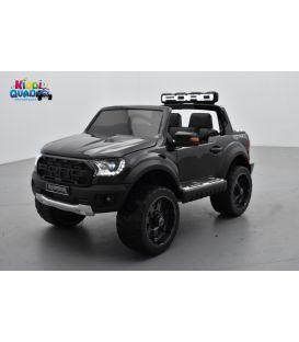 Ford Ranger Raptor Noir Métallisée, voiture électrique pour enfant, 12V 10Ah, 2 moteurs