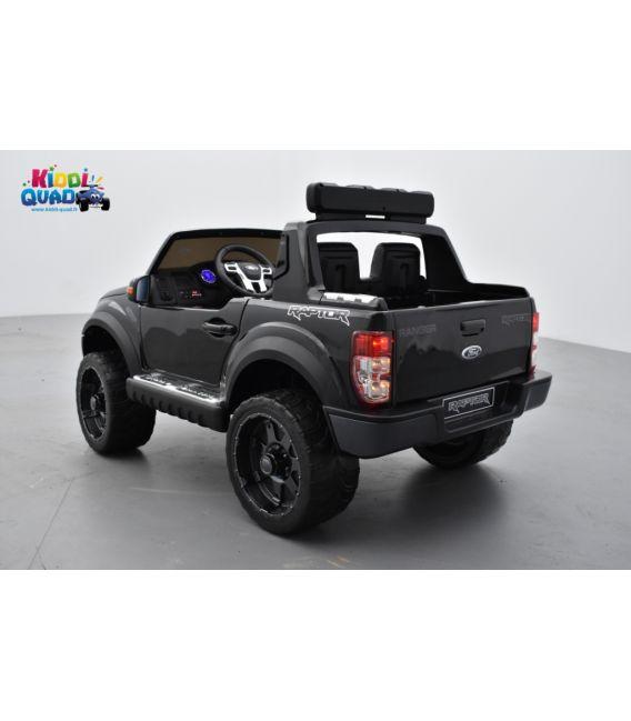 Ford Ranger Raptor noir 12 Volts électrique enfant, voiture électrique enfant 12V 10Ah, 2 moteurs