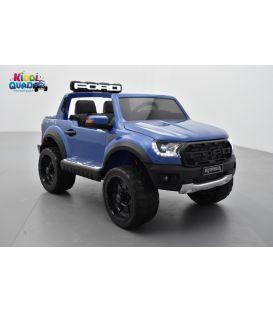 Ford Ranger Raptor Bleu Métallisée, voiture électrique enfant, 12V 10Ah, 2 moteurs