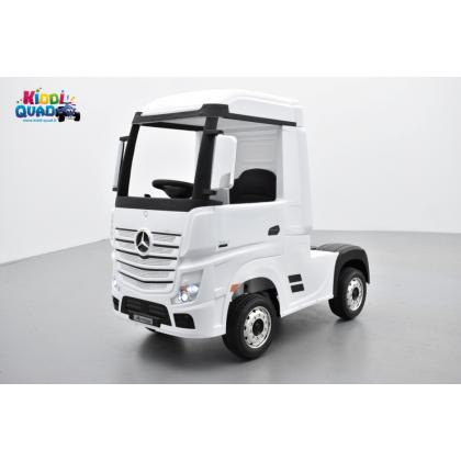 Mercedes Actros blanc 2 x 12V, camion électrique enfant 12 volts télécommande parentale 2.4 Ghz, 12V 14Ah, 4 moteurs