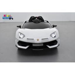 Lamborghini Aventador SVJ 12 Volts blanco isi, voiture électrique enfant 12V - 7AH, 2 moteurs