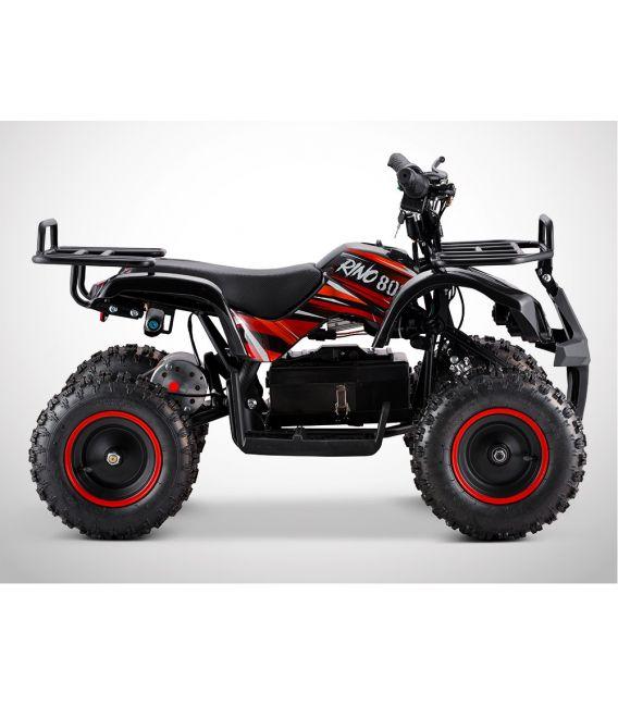 Quad electrique enfant RINO 800W noir/rouge, 36Volts
