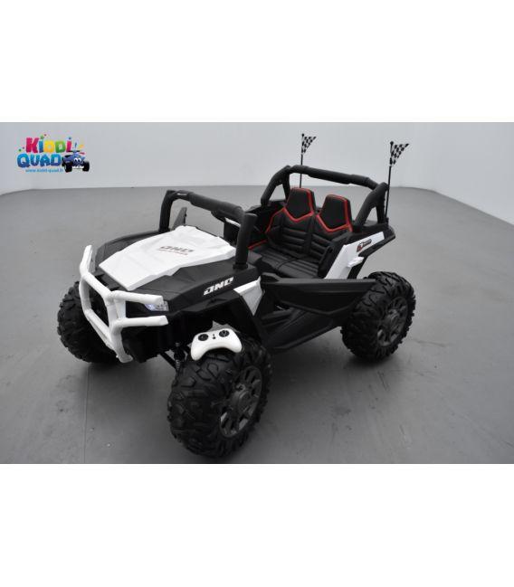 Beach Buggy 24 Volts électrique enfant blanc, buggy électrique enfant 24 Volts 7 Ah, 2 moteurs