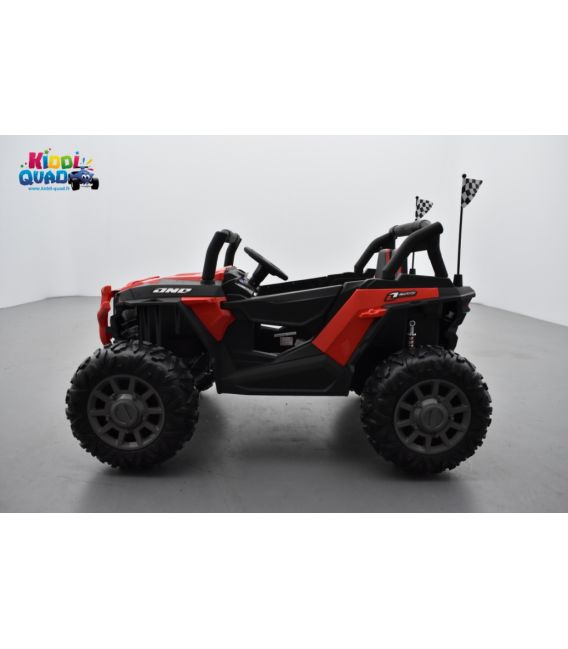 Beach Buggy 24 Volts électrique enfant rouge, buggy électrique enfant 24 Volts 7 Ah, 2 moteurs