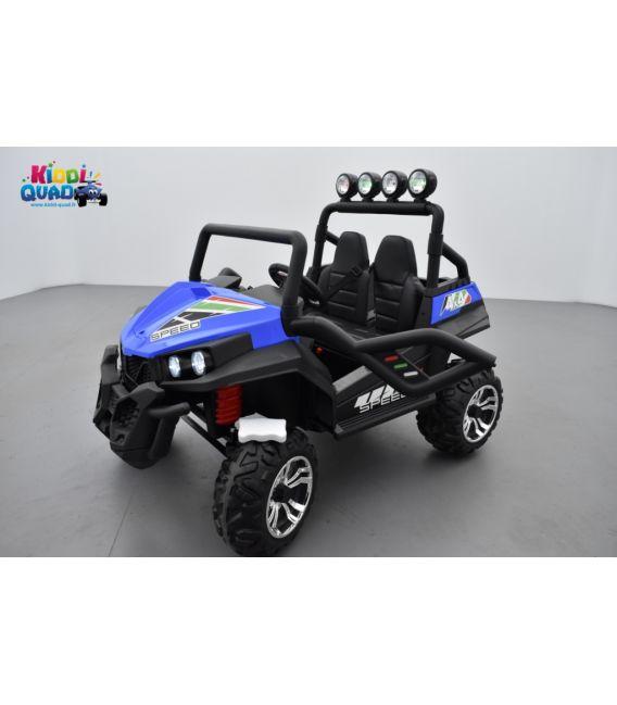 Buggy Bleu 24 Volts 7Ah 2 moteurs de 105 watts, buggy deux places, voiture électrique enfant