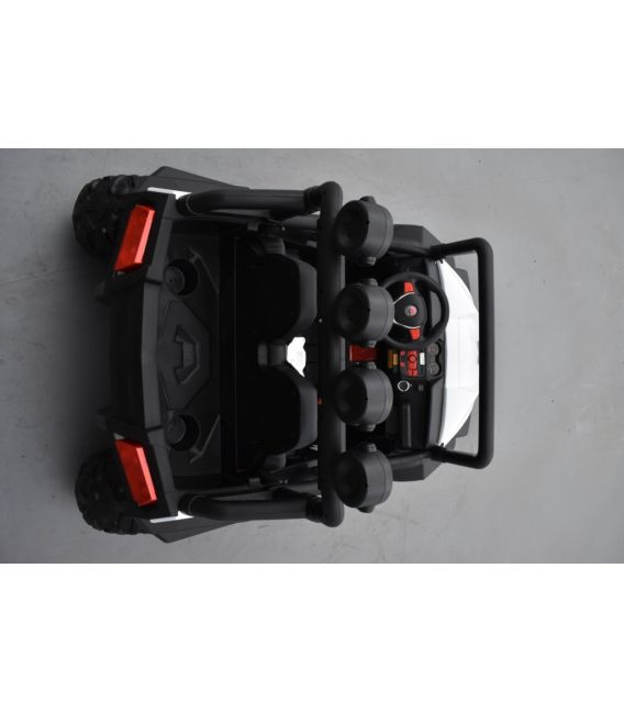 Buggy Blanc 24 Volts 7Ah 2 moteurs de 105 watts, buggy deux places, voiture électrique enfant
