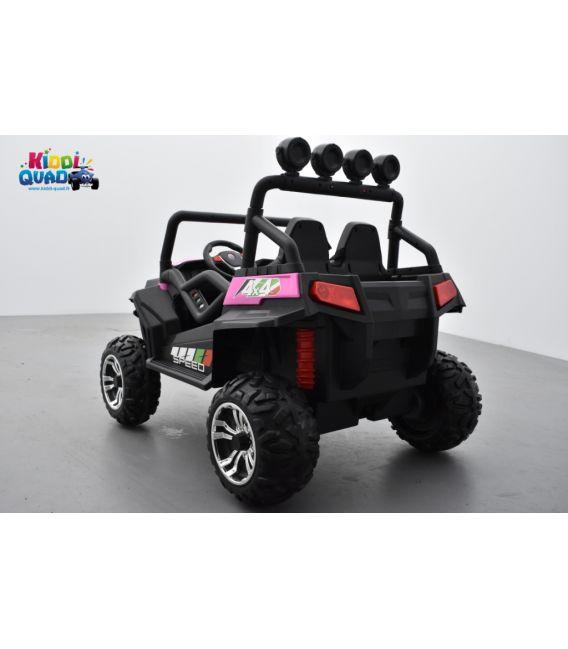 Buggy Rose 24 Volts 7Ah 2 moteurs de 105 watts, buggy deux places, voiture électrique enfant
