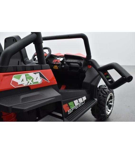 Buggy Rouge 24 Volts 7Ah 2 moteurs de 105 watts, buggy deux places, voiture électrique enfant