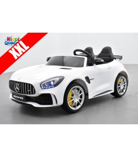 Mercedes AMG GT R 2 places Blanc, Version Discount, voiture électrique pour enfant, 12 volts 7 Ah