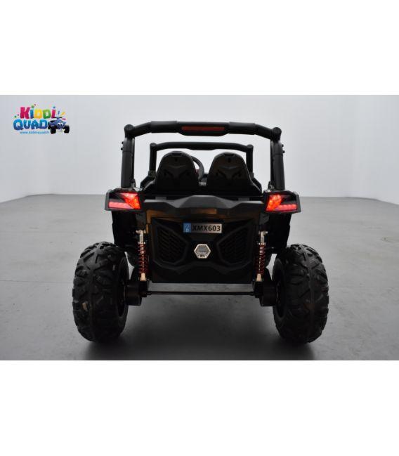Buggy UTV Camouflage 2 x 12V 4 roues motrices en gomme deux places, buggy électrique enfant