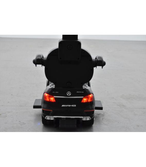 Trotteur voiture Mercedes GL63 Noir, porteur pousseur à bascule voiture