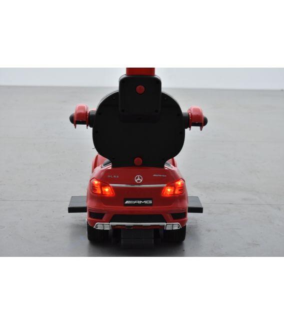 Trotteur voiture Mercedes GL63 Rouge, porteur pousseur à bascule voiture