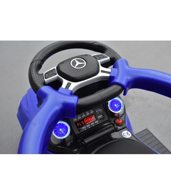 Trotteur voiture Mercedes GL63 Bleu, porteur pousseur à bascule voiture