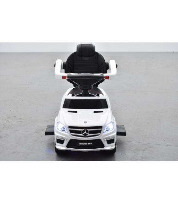 Trotteur voiture Mercedes GL63 Blanc, porteur pousseur à bascule voiture