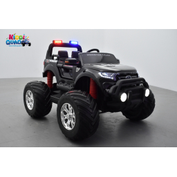 Monster Truck 2 x 12V Ford Ranger S.W.A.T. feux de patrouille sirène, voiture électrique enfant 12 volts - 4 moteurs