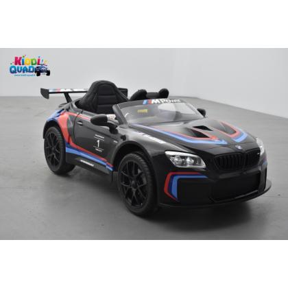 BMW M6 GT3 12 Volts noir, voiture électrique enfant 12 Volts télécommande parentale 2.4 Ghz, 2 moteurs