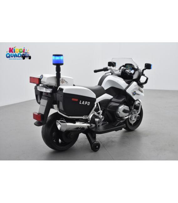 BMW R 1200 RT Police blanc, moto électrique pour enfant 12 Volts