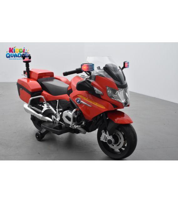 BMW R 1200 RT Pompier rouge, moto électrique pour enfant 12 Volts