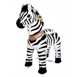 PonyCycle Zèbre, cheval à roulettes enfant 2 à 4 ans