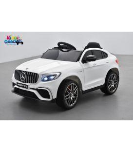 Mercedes GLC 63S Blanc, voiture électrique pour enfant, 12 Volts - 2 moteurs