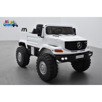 Mercedes ZETROS Blanc, voiture électrique pour enfant, 12 volts 7 Ah