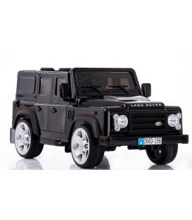 Land Rover Defender Noir Santorini, voiture électrique pour enfant 12 volts avec télécommande parentale