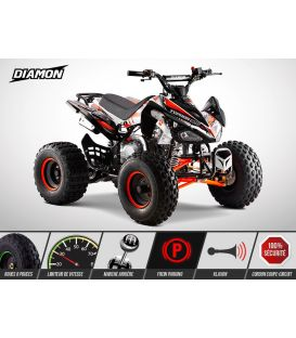 Quad enfant TYPHON 125cc orange - Limited Edition 2020 - 8 pouces