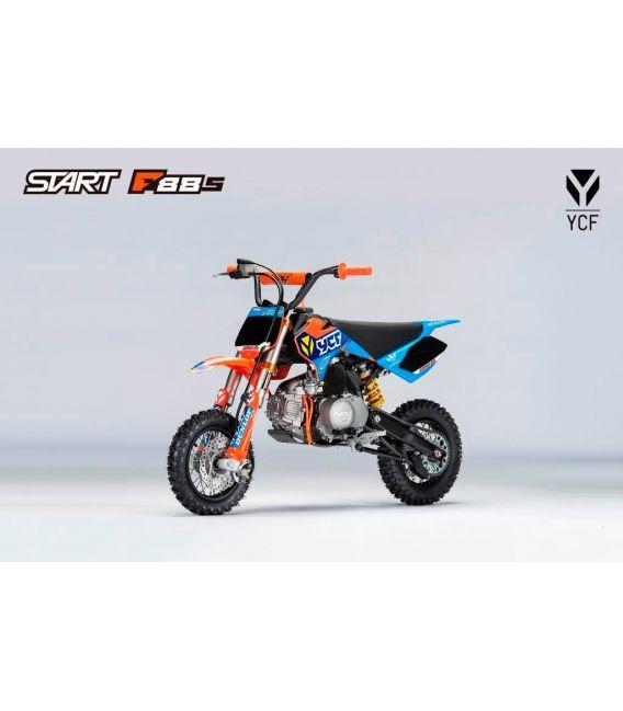 Moto essence enfant YCF F88S Orange semi-auto Série Limitée Troy Lee Design
