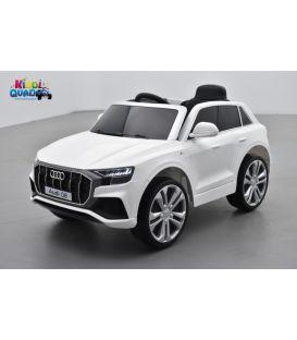 Audi Q8 Blanc, voiture électrique enfant télécommande parentale, 12 Volts - 2 moteurs