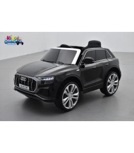 Audi Q8 Noir Métallisée, voiture électrique enfant télécommande parentale, 12 Volts - 2 moteurs