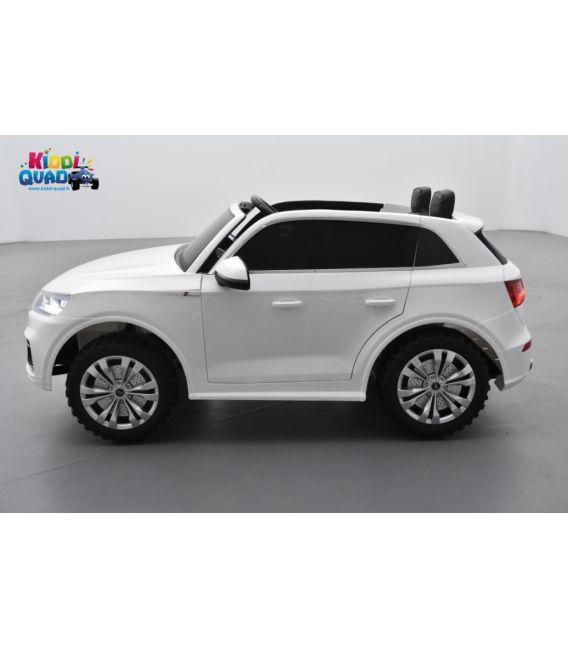 Audi Q5 TFSI 24 Volts 2 places blanc Ibis, voiture électrique enfant télécommande parentale 2.4 Ghz, 2 moteurs 70 Watt