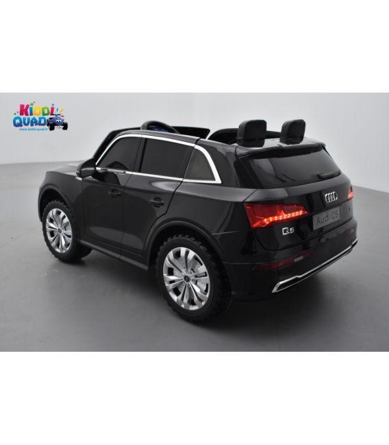 Audi Q5 TFSI 24 Volts 2 places noir Mythe métallisé, voiture électrique enfant télécommande parentale 2.4 Ghz, 2 moteurs 70 Watt