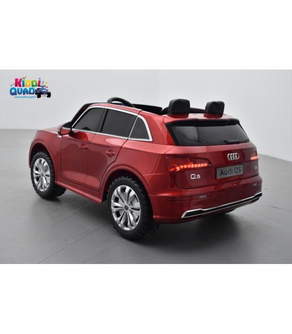 Audi Q5 TFSI 24 Volts 2 places rouge Matador métallisé, voiture électrique enfant télécommande parentale 2.4 Ghz, 2 moteurs 70 W