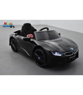 BMW I8 Noir métallisée, voiture électrique pour enfant, 12 volts, 2 moteurs