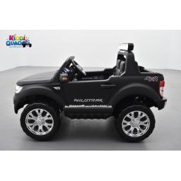 Ford Ranger 2 x 12V Phase 2 Noir Mat avec télécommande parentale 2.4 GHz, voiture électrique pour enfant 2 places,
