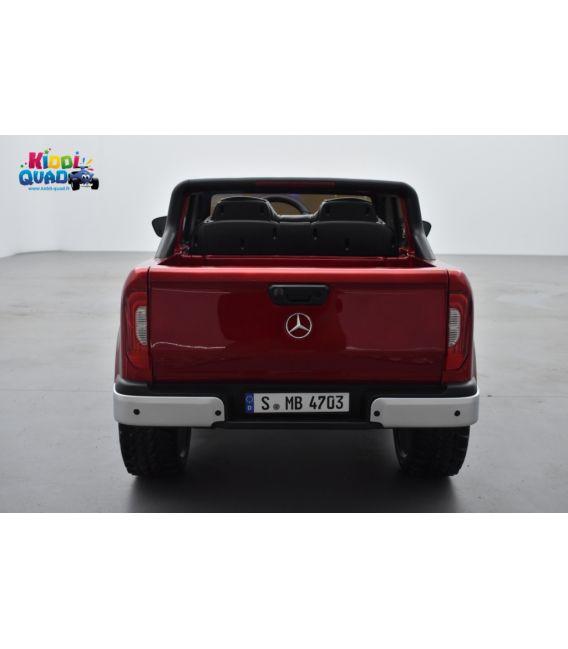 Mercedes Classe X rouge danakil 12V 10Ah Métallisée, Ecran MP4, voiture électrique pour enfant, 12 Volts - 4 moteurs