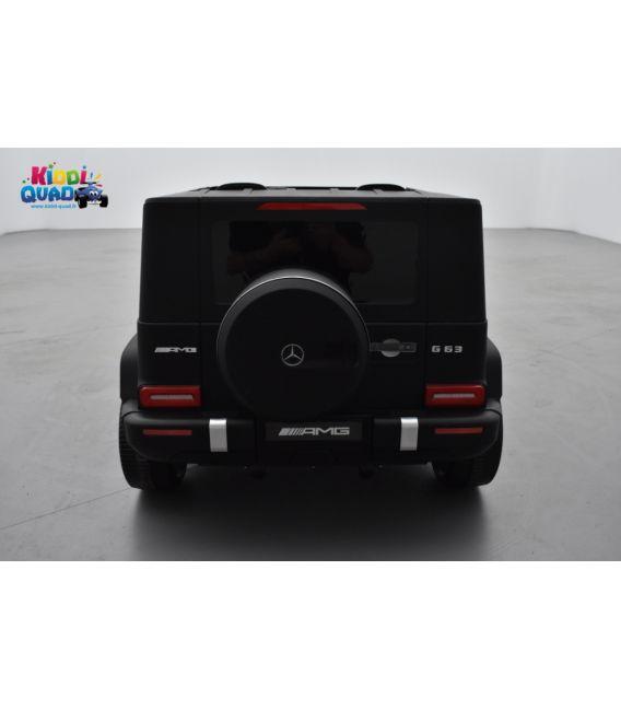 Mercedes G63 AMG 2 places Noir Mat, voiture électrique pour enfant, 24 volts - 4 moteurs