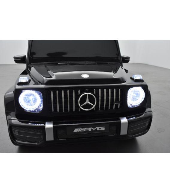 Mercedes G63 AMG 2 places Noir Métallisée, voiture électrique pour enfant, 24 volts - 4 moteurs