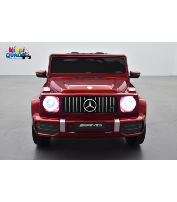 Mercedes G63 AMG 2 places Rouge Métallisée, voiture électrique pour enfant, 24 volts - 4 moteurs