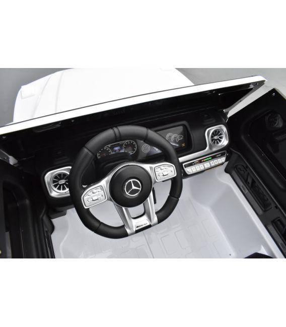 Mercedes G63 AMG 2 places Blanc, voiture électrique pour enfant, 24 volts - 4 moteurs