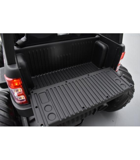 Monster Truck 2 x 12V Ford Ranger Noir Mat, voiture électrique enfant 12 volts - 4 moteurs