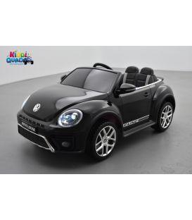 """Volkswagen Coccinelle Dune """"Beetle"""" Noir Métallisée, 12 volts, voiture électrique pour enfant"""