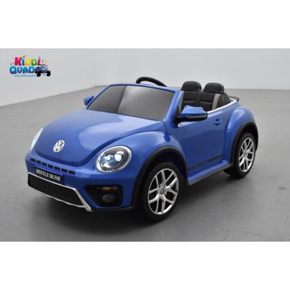 """Volkswagen Coccinelle Dune """"Beetle"""" Bleu Métallisée, 12 volts, voiture électrique pour enfant"""