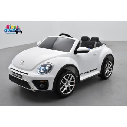"""Volkswagen Coccinelle Dune """"Beetle"""" Blanc, 12 volts, voiture électrique pour enfant"""