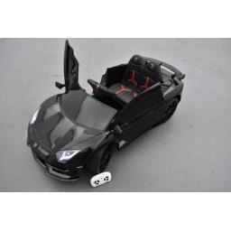 Lamborghini Aventador SVJ 12 Volts nero, voiture électrique enfant 12V - 7AH, 2 moteurs
