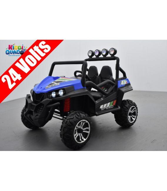Buggy Bleu 24 Volts 7Ah 2 moteurs de 200 watts, buggy deux places, voiture électrique enfant