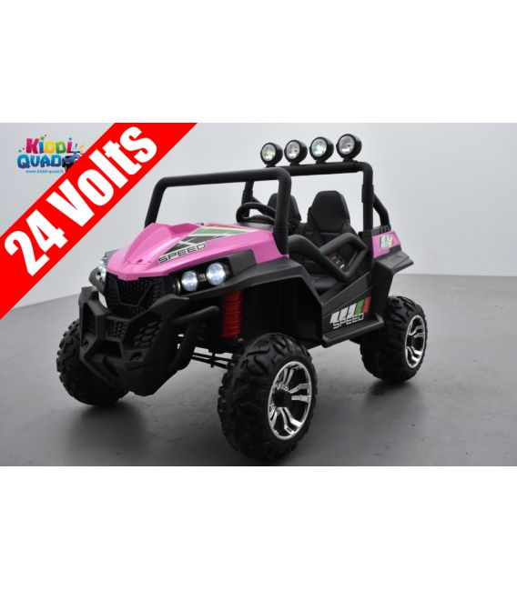 Buggy Rose 24 Volts 7Ah 2 moteurs de 200 watts, buggy deux places, voiture électrique enfant