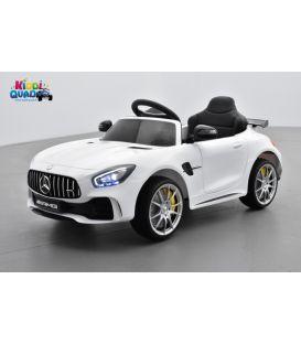 Mercedes AMG GT R Blanc, voiture électrique pour enfant, 12V, 2 moteurs
